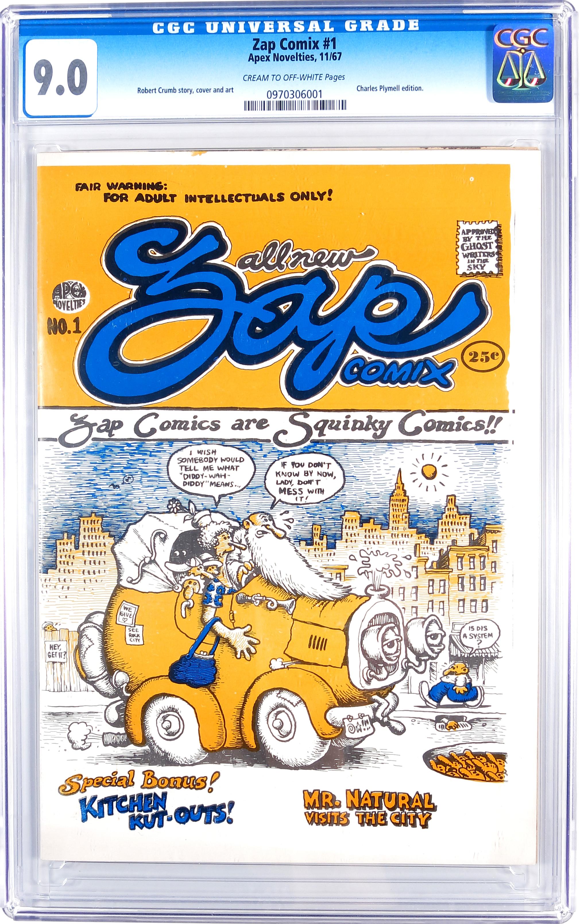 Zap Comix #1 1st Print CGC 9.0